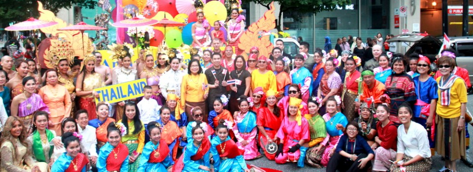 Thai Community and Royal Thai Consulate-General in Vancouver participated in Canada Day Celebration (1 July 2016)