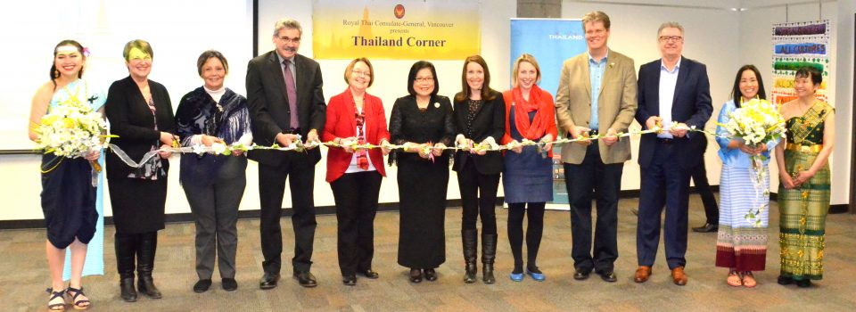 Royal Thai Consulate-General in Vancouver Organized Thailand Corner at Prince George Public Library