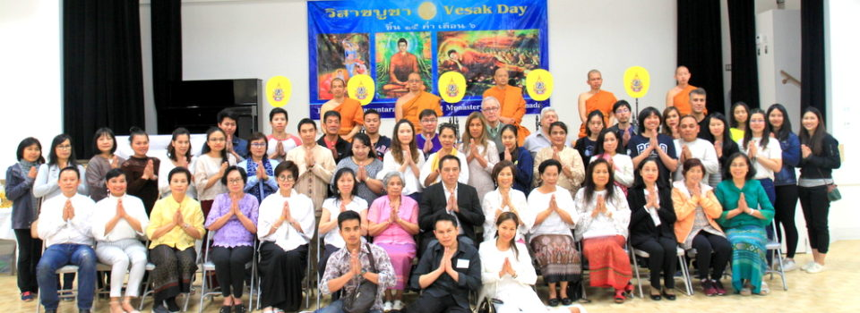 Consul-General of Thailand to Vancouver presided over the Visakabucha Day Buddhist Ceremony at Buddapanyanuntarama Buddhist Monastery in Burnaby
