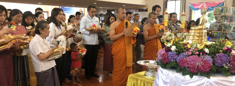 Consul-General of Thailand to Vancouver presided over the Asalha Bucha Day and Buddhist Lent Day Ceremony at Yanviriya Buddhist Temple 1 in Vancouver (21 Jul)