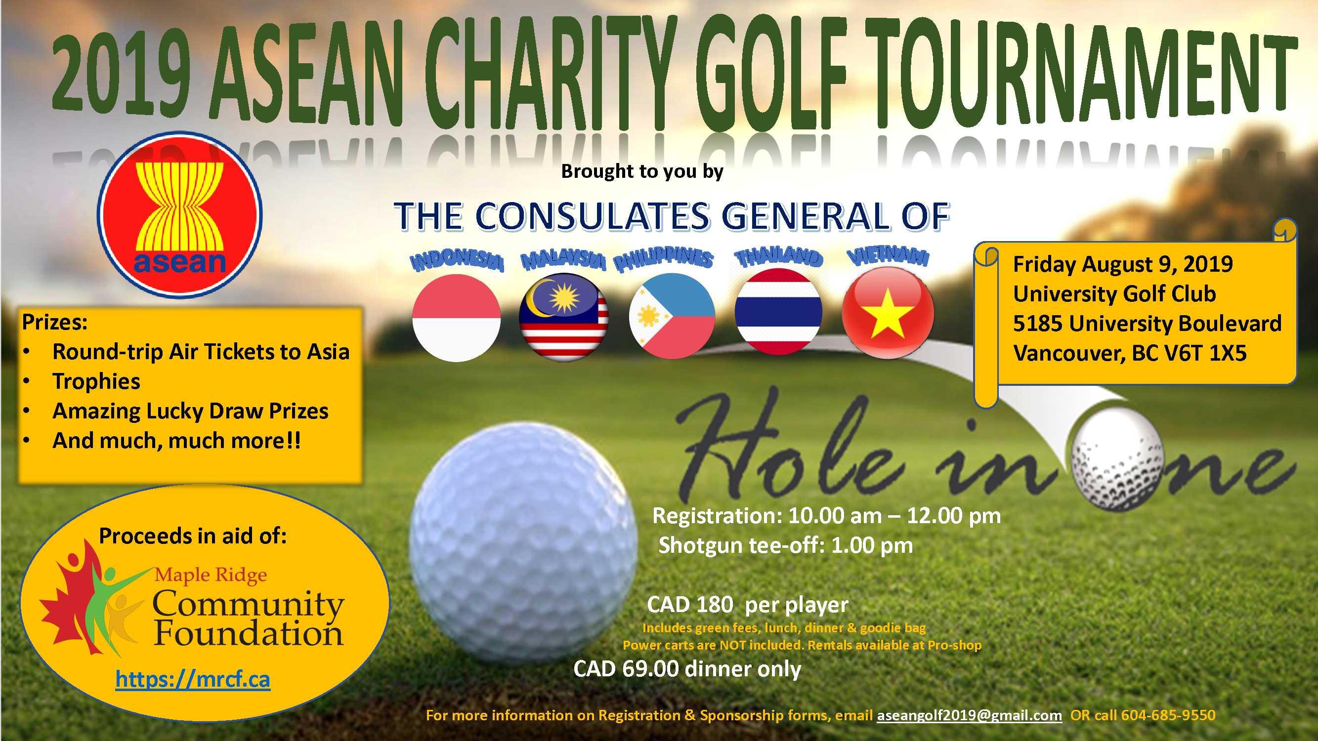 2019 ASEAN Charity Golf Tournament, Friday August 9 | Royal Thai