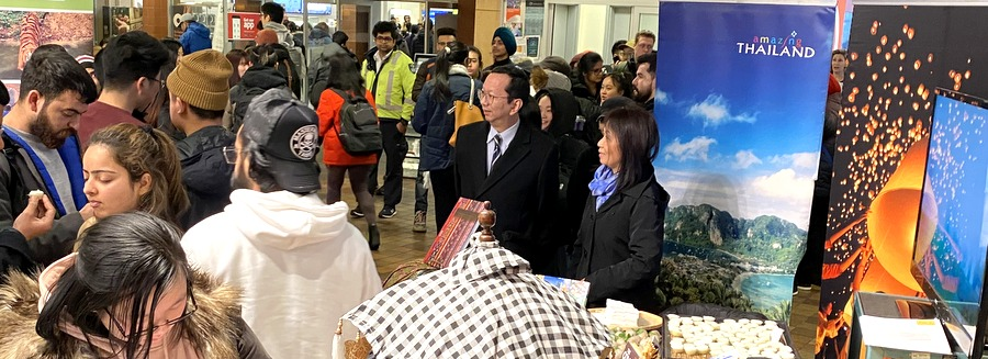 """Royal Thai Consulate-General in Vancouver Participated in the """"Asian Studies Day"""" at Langara College (4 Feb)"""