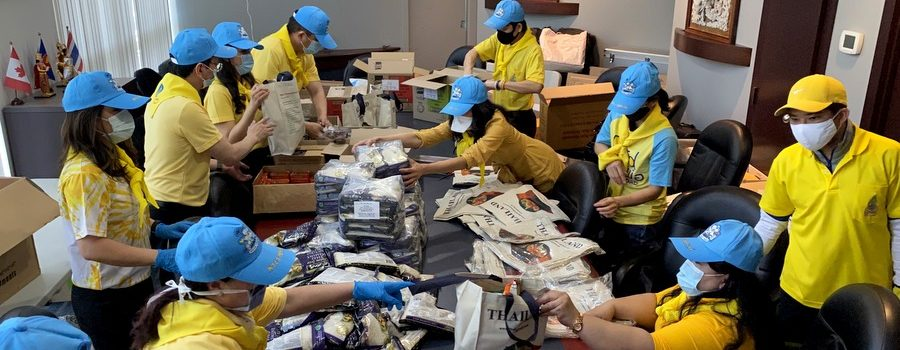 Royal Thai Consulate-General in Vancouver Organized Volunteer Activity Helping Victims of the COVID-19 Pandemic